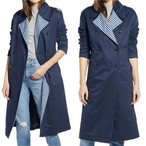 Something Navy Trench Coat NWOT